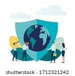 vector illustration  planet... | Shutterstock .eps vector #1712321242