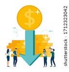 vector illustration  economic... | Shutterstock .eps vector #1712323042
