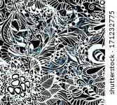 black white seamless zentangle...   Shutterstock .eps vector #171232775