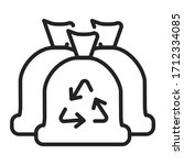 trash bags line color icon.... | Shutterstock .eps vector #1712334085