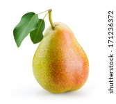 pear with leaf isolated on...   Shutterstock . vector #171236372