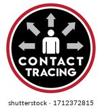 contact tracing icon   symbol... | Shutterstock .eps vector #1712372815