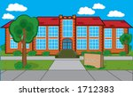 detailed building with grass ... | Shutterstock .eps vector #1712383