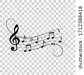 music notes  isolated vector... | Shutterstock .eps vector #1712388418