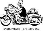 motorbike avenue motor vulture... | Shutterstock .eps vector #1712399152