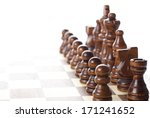 chess pieces set on a chessboard | Shutterstock . vector #171241652