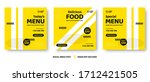 food menu banner social media... | Shutterstock .eps vector #1712421505