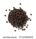 Black pepper placed on a white...
