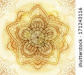 hand drawn ethnic circular... | Shutterstock .eps vector #171243116