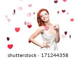 cheerful caucasian red haired... | Shutterstock . vector #171244358