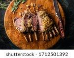 Close up of crusted lamb ribs...