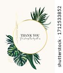 gold foil and greenery palm... | Shutterstock .eps vector #1712533852