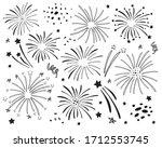 set of different fireworks....   Shutterstock .eps vector #1712553745