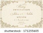 wedding invitation cards... | Shutterstock .eps vector #171255605