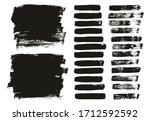 flat paint brush thin lines  ... | Shutterstock .eps vector #1712592592
