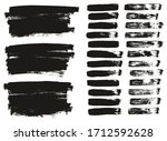 flat paint brush thin lines  ... | Shutterstock .eps vector #1712592628