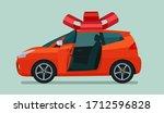 new compact hatchback car as a... | Shutterstock .eps vector #1712596828