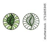 beautiful round nature... | Shutterstock .eps vector #1712605345