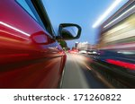 car on the road with motion... | Shutterstock . vector #171260822