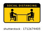 social distancing icon. keep... | Shutterstock .eps vector #1712674405