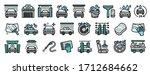 car wash icons set. outline set ...   Shutterstock .eps vector #1712684662