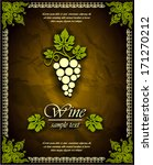 wine vector label  | Shutterstock .eps vector #171270212