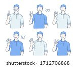 businessman characters raise... | Shutterstock .eps vector #1712706868