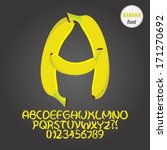 yellow banana alphabet and... | Shutterstock .eps vector #171270692