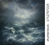 Seascape With Stormy Waves And...