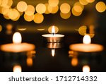 Three Candles With Bokeh...