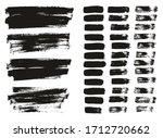 flat paint brush thin lines  ... | Shutterstock .eps vector #1712720662