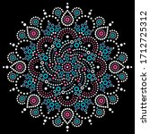 aboriginal bohemian dot... | Shutterstock .eps vector #1712725312
