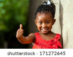 portrait of happy little... | Shutterstock . vector #171272645