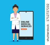 doctor lady design  contact... | Shutterstock .eps vector #1712727232