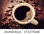 closeup of coffee with crema.... | Shutterstock . vector #171274268