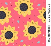 vector seamless pattern with... | Shutterstock .eps vector #1712763328