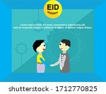 shaking hands and apologizing... | Shutterstock .eps vector #1712770825