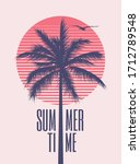summer time minimalistic... | Shutterstock .eps vector #1712789548