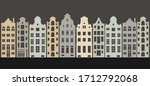 lovely european houses in...   Shutterstock .eps vector #1712792068
