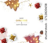 xmas poster  greeting cards ... | Shutterstock .eps vector #1712820658