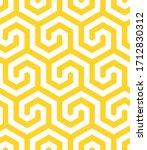 vector yellow geometric pattern.... | Shutterstock .eps vector #1712830312