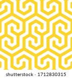 vector yellow geometric pattern.... | Shutterstock .eps vector #1712830315