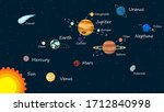 solar system planets isolated... | Shutterstock .eps vector #1712840998