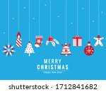 merry christmas title with... | Shutterstock .eps vector #1712841682