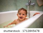 Cute Caucasian Baby Taking A...