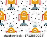 seamless vector pattern with... | Shutterstock .eps vector #1712850025