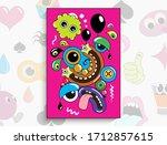 bright illustration of cartoon... | Shutterstock .eps vector #1712857615