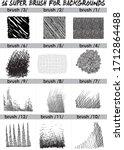 super  set of black brush .... | Shutterstock .eps vector #1712864488