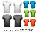 colorful male t shirts. design... | Shutterstock .eps vector #171289238