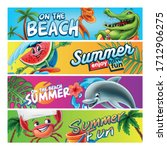 set of summer banners with... | Shutterstock .eps vector #1712906275